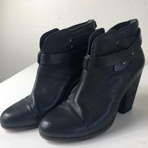 Rag and Bone Black Leather Harrow Boots 10 EU 40